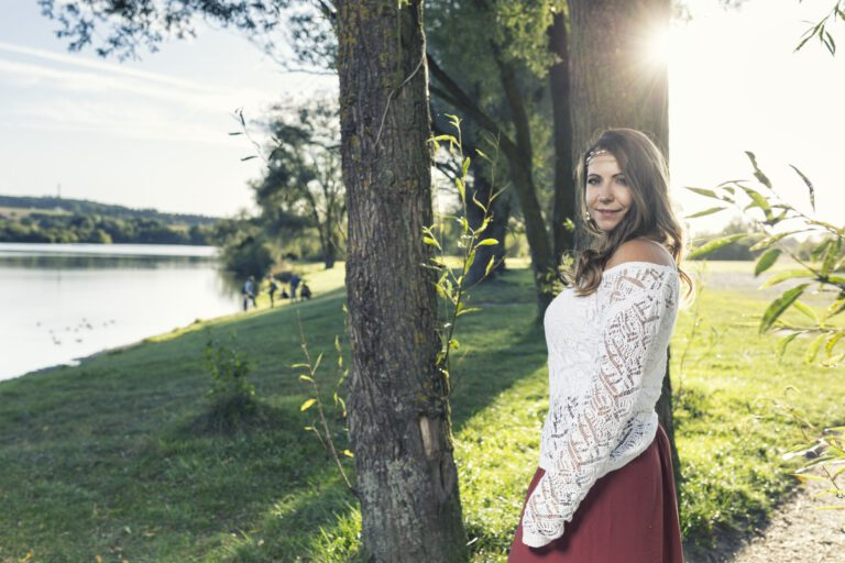 Fotoshooting mit Yve Gratz am See